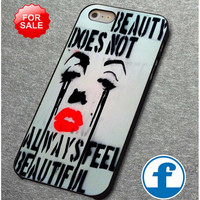 Marilyn Monroe Beauty Does Not Quotes for iphone, ipod, samsung galaxy, HTC and Nexus phone case