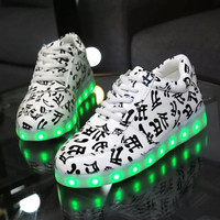 Camouflage Noctilucent Lightning Low-cut Couple Shoes [6734552263]