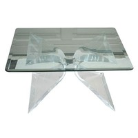 Pre-owned Lion in Frost Lucite Coffee Table