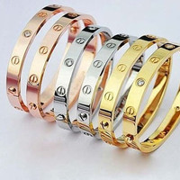 Fashion Love Celebrity Screw Bracelet Bangle Cuff