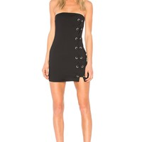 by the way. Tina Lace Up Dress in Black   REVOLVE