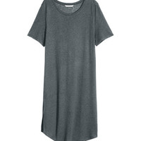 H&M Long Linen-blend T-shirt $24.99