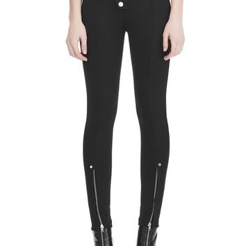 HIGH WAISTED LEGGINGS WITH MULTI SNAP DETAIL | PANTS | Alexander Wang Official Site