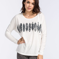 Rvca Feather Stripe Womens Tee White  In Sizes