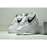 NIKE AIR FORCE 1 Tide brand men and women models low to help wild fashion shoes shoes White+black hook
