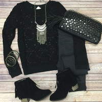All About that Lace Top: Black