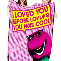 BARNEY LOVES YOU BLANKET - Default Title
