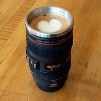 Creative Stainless Steel Camera Lens Coffee Mug by forevervintage on Zibbet