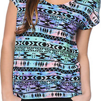 Empyre Hatfield Multicolor Tribal Print Dolman Tee Shirt