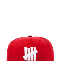 Undefeated 5 Strike Snapback in Red