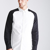 Colorblocked Cotton Oxford Shirt