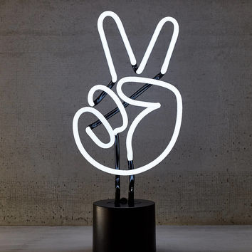 Neon Peace Sign Table Lamp | Urban Outfitters