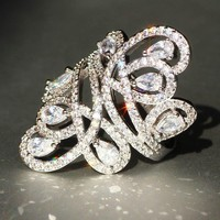 Women's Finer Fashion Dinner Ring - Free Shipping