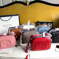 GUCCI GG Leather Crossbody Shoulder bag
