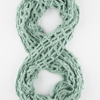 Open Square Knit Infinity Scarf Mint One Size For Women 26396252301