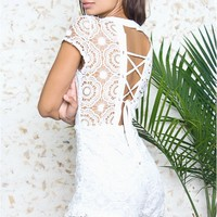 Rich and Famous Crochet Romper