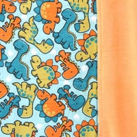 Dinosaurs All Over Flannel Orange Smooth Minky Baby Blanket, Toddler Blanket, Bed Time, Nap Time, Play Time, Cuddle Time, Boy Baby Shower