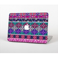 """The Pink & Teal Modern Colored Aztec Pattern Skin Set for the Apple MacBook Air 13"""""""