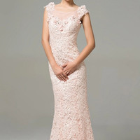 Embroidered Sequin Lace Gown