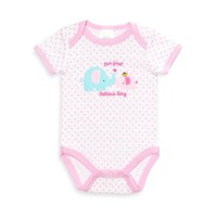 Cutie Pie® Our First Father's Day Dad & Princess Elephant Bodysuit in White