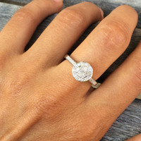 Sterling Silver Diamond Ring (1/4cttw, I-J Color, I3 Clarity)