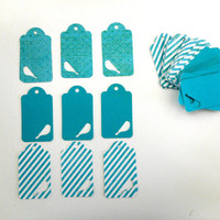 50 Double sided Tags for Gifts or Scrapbooks Die Cut