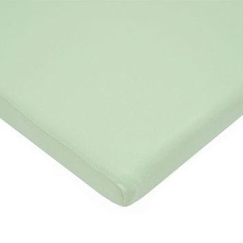 American Baby Company 100% Natural Cotton Value Jersey Knit  Fitted Bassinet Sheet, Celery, Soft Breathable, for Boys and Girls 1 Pack