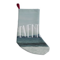 """Chelsea Victoria """"Adventure"""" Blue Photography Christmas Stocking"""