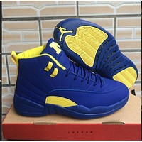 Air Jordan 12 Retro Blue/yellow Shoe Size 7 13