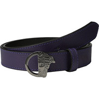 Versace Collection Palmellato Printed Calf Belt