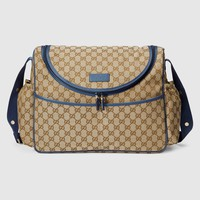 Gucci Original GG canvas diaper bag