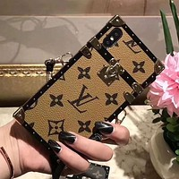 Perfect Louis Vuitton LV Fashion iPhone Phone Cover Case For iphone 6 6s 6plus 6s-plus 7 7plus 8 8plus X
