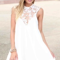 Lace Top Swimsuit Cover-Up
