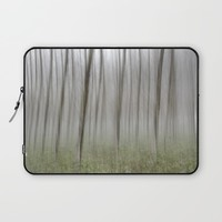 """Foggy Wood"" Laptop Sleeve by Guido Montañés"