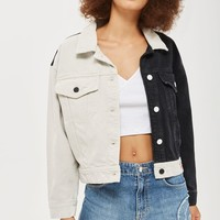 Colour Block Denim Jacket by GUESS Originals | Topshop