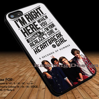 I'm Right Here 5 Seconds of Summer iPhone 6s 6 6s+ 5c 5s Cases Samsung Galaxy s5 s6 Edge+ NOTE 5 4 3 #music #5sos DOP2150
