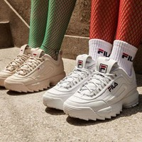 "FILA Disruptor II 2 Running Shoes ""ICE PINK"" ""WIHTE""FW0165-043"