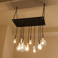 Urban Chandelier in Ebony by urbanchandy on Etsy