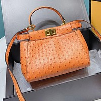 FENDI New Fashionable Women Shopping Bag Leather Handbag Tote Shoulder Bag Crossbody Satchel