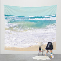 The Ocean Wall Tapestry by Sharon Mau