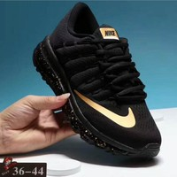 NIKE AirMax Trending Fashion Casual Sports Shoes black/golden soles H-PSXY