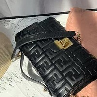 Fendi 2020 new double F letter embossed female shoulder bag crossbody bag