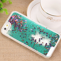 Glitter Liquid Sand Star Case for iPhone 6/6S