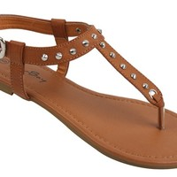 Women Roman Gladiator Spike Studed T Strap Sandals Thongs Flat Shoes NEW IN BOX