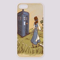 Vogueline Doctor who with Beauty and the beast Design Hard Case Cover Skin for iphone 6 case iphone 6plus iphone 5 5s 4 4s iphone 5c Samsung Galaxy S5 S3 S4 note 2 note3 note4 (Case for iPhone 5/5s(White Hard))