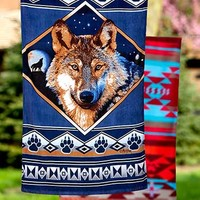 Oversized Lodge-Look Towels