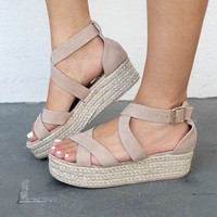 The Horizon Natural Criss Cross Strappy Espadrilles
