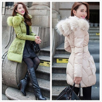 Women Jacket Women In The Long Slim Down Coat Ovo Linc Thickening The New 2015 Korean Winter Panic Buying Large Size = 1932267908
