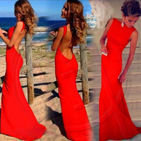 Backless Party Dress [7279467911]
