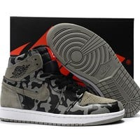 Best Deal Online Nike Air Jordan 1 Retro High Premium Shadow Camo Men Sneakers Camouflage Sports Shoes AA3993-034